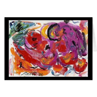 Abstract Mini Color 2 greeting card
