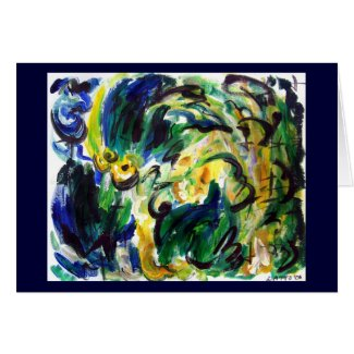Abstract Spring Rainfall greeting card