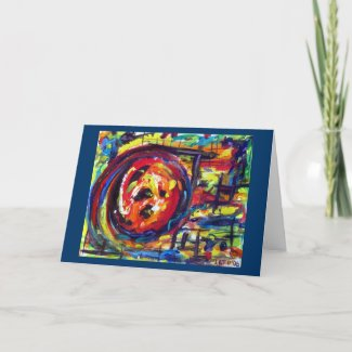 Abstract Wheel of Life  card