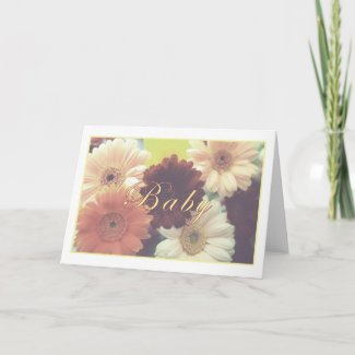 Baby Greeting Card (Script) card