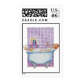 Bathtub Joy Stamp stamp