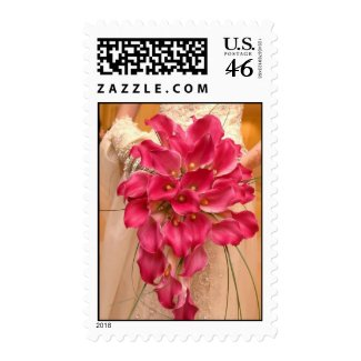 Calla Lily Pink Wedding Postage stamp