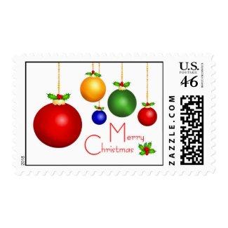 Christmas Balls Postage Stamp stamp