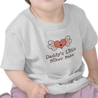 Daddy's Little Biker Babe Baby Girl Tee shirt