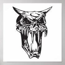 evil demon skull posters