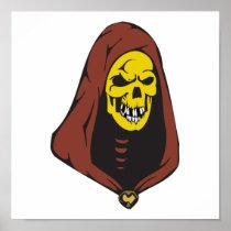 evil hooded skull posters
