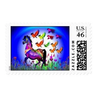 Fantasy Horse USPS Stamp  #1 stamp