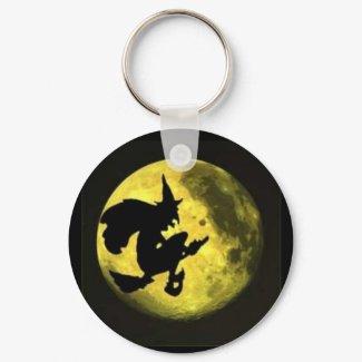 Flying Witch Halloween Keychain keychain