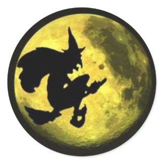 Flying Witch Halloween Sticker sticker
