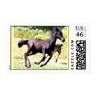 frolicking foals stamps postage