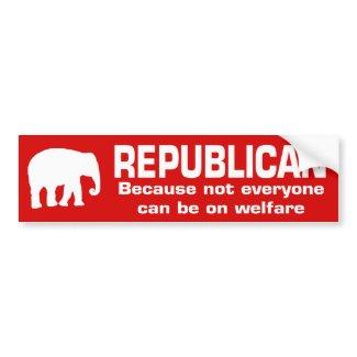 Funny Republican Bumper Sticker bumpersticker