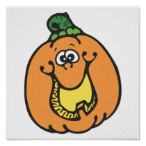 funny smiling pumpkin posters