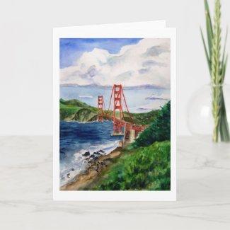Golden Gate Bridge Greeting Card card