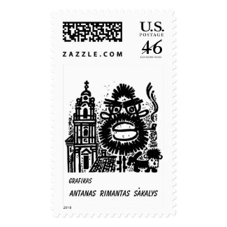 Grafikas Antanas Rimantas Sakalys stamp