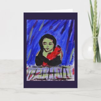 Green and Red Greeting Card card
