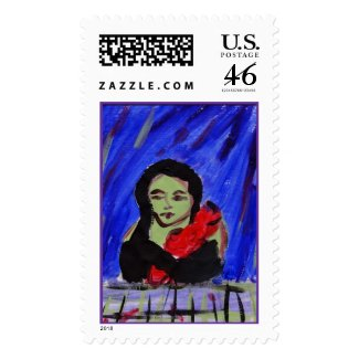 Green and Red Stamp stamp