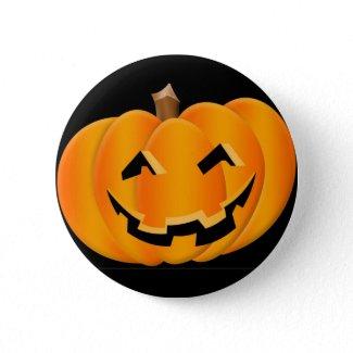 Halloween Smiling Pumpkin Button button
