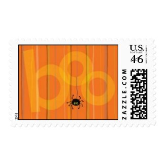 Halloween Spider Boo Postage Stamp stamp