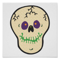 happy skull  posters