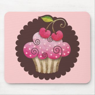 Cherry Berry Cupcake Mousepad