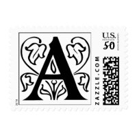 fancy letter monogram postage stamps  in association with Zazzle.com