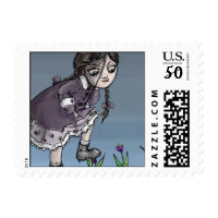crocus girl postage stamps  in association with Zazzle.com