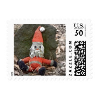 weired santa claus postage stamps  in association with Zazzle.com
