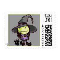 halloween witch postage stamps  in association with Zazzle.com