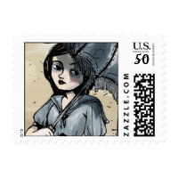 gothic parasol girl postage stamps  in association with Zazzle.com