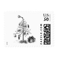 gothic christmas tree postage stamps  in association with Zazzle.com