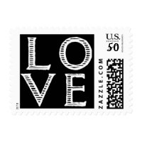 love carved look letters postage stamps  in association with Zazzle.com
