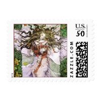 sleeping fantasy art postage stamps  in association with Zazzle.com