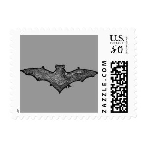 halloween bat postage stamps  in association with Zazzle.com