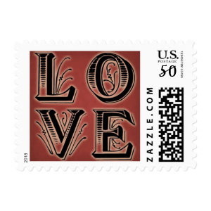 ornate love postage stamps  in association with Zazzle.com