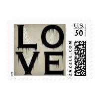 halloween love postage stamps