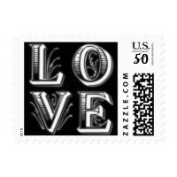 gothic ornate love postage stamps  in association with Zazzle.com