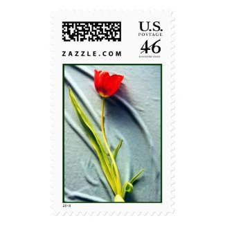 Kerstin's Red Tulip Stamp stamp