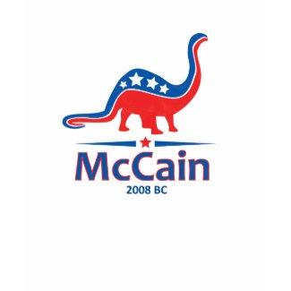McCain Brontosaurus shirt