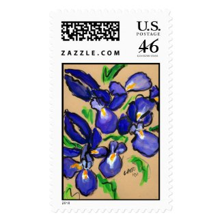 Modern Dance Iris Painting Stamp stamp