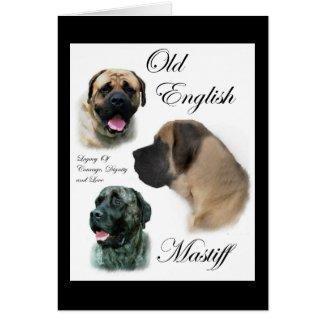 Old English Mastiff Gifts card