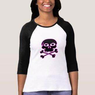 Pink Neon Black Skull Shirt shirt