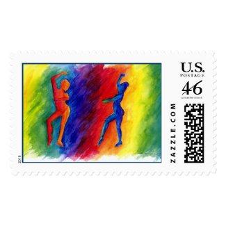 Rainbow Degas Stamp stamp
