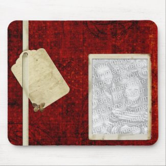 Red photo mousepad template mousepad