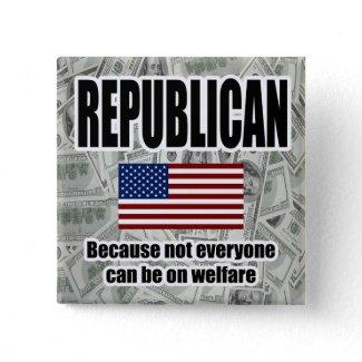 Republican Welfare Square Button button