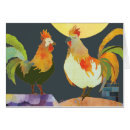 Rooster blank card card