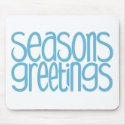Season's Greetings Ice Blue Mousepad