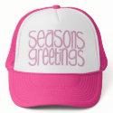 Seasons Greetings Pink Hat
