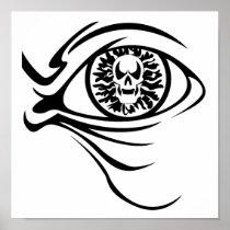 skull eyeball posters