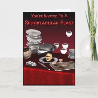 Spooktacular Feast Invitation Card card