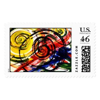 Springs Abstract Painting Stamp stamp